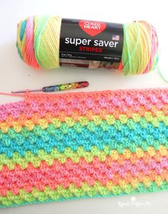 Granny Stripe Crochet, Granny Stripe Blanket, Striped Crochet Blanket, Baby Afghan Crochet, Manta Crochet, Afghan Crochet Patterns, Crochet Baby Blanket Free Pattern, Blanket Yarn, Crochet Gratis