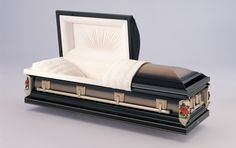 Midnight Rose (18 Gauge Steel) American Style Casket. - Premium Quality - Nationwide Delivery. Lowest Online Prices. Visit www.coffincompany.co.uk