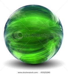 Green Glass Ball