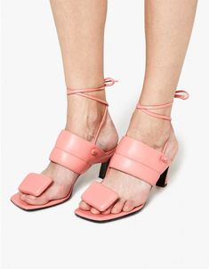 a689d8db884d Contemporary sandal from Marni in Camellia. Napa leather. Thong  construction at forefoot with padded