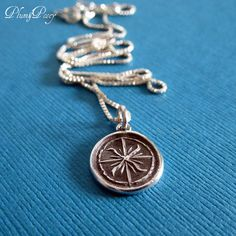 Windrose Compass Wax Seal Pendant