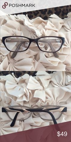 Ladies dark brown glasses Trendy eyeglasses. Can replace current lenses with your own Prescription. Accessories Glasses