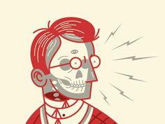 Ghost Machine by Dan Christofferson #illustration #2color