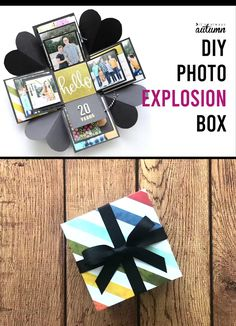 An Explosion Box Is A Cool Diy Gift That's Cheap ; eine explosionsbox ist ein cooles geschenk, das billig ist An Explosion Box Is A Cool Diy Gift That's Cheap ; Pot Mason Diy, Mason Jar Crafts, Mason Jars, Diy Love, Cool Diy, Fun Diy, Ideias Diy, Diy Gift Box, Gift Boxes