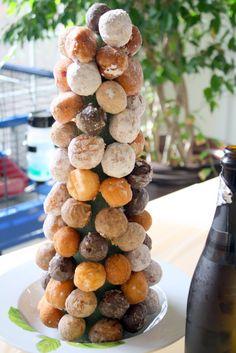 Doughnut Hole Tree baby shower brunch