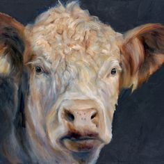 """One of my cow paintings """"Milton"""""""
