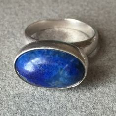 Georg Jensen Sterling Silver Ring No. 123B by Nanna Ditzel with Lapis Lazuli