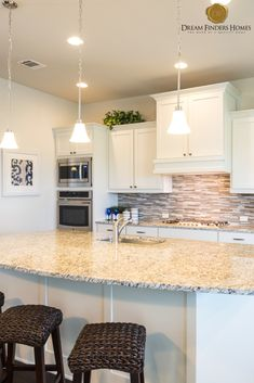 This is a great design a custom kitchen, just the right amount of space for around he Kitchen Stuff, Kitchen Decor, Kitchen Design, New Home Construction, Custom Kitchens, Interior Decorating, Interior Design, Home Trends, Kitchen Trends