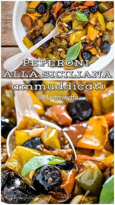 Italian Pasta Recipes, Sicilian Recipes, Sicilian Food, Antipasto, Classic Italian Dishes, Italian Vegetables, Food For A Crowd, Vegetable Dishes, Soul Food