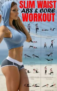 25 Best Abs Exercises & Workout for Women to Lose Belly Fat Fast. In this post, you will learn about the few effective ab workouts that a lot of women are doing in secret. If you're active, then you can get abs in a week. Ab Core Workout, Best Ab Workout, Ab Workouts, Fitness Workouts, Tummy Workout, Workout Diet, Waist Workout, Diet Exercise, Workout Motivation