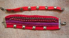 Bracelet manchette au crochet www.tambouille.fr