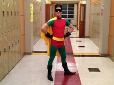 Who Is That Masked Man? Darren Criss Channels the Boy Wonder on the Set of Glee