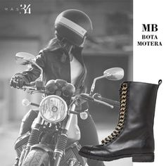 Botas moteras MB piel negra MAS34 http://www.mas34shop.com/tienda/bota-mb-piel-negra/