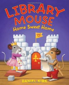 """When faced with a real-life problem, Sam knows just what to do. After the mouse reads a note indicating that a """"renovation"""" in his library is afoot, he uses a dictionary to define the new word and then locates architecture resources to help him design temporary quarters in the attic. www.cattailchronicles.com"""