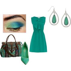 Teal appeal.  Such a cute dress.