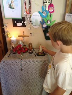 On Mary May Altars and links to Marian posts for May