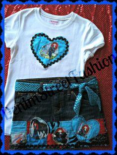 Girls Disney Brave Deco Denim Skirt and by DenimStreetFashion, $52.99