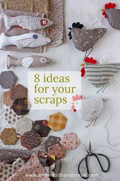 Sewing Hacks, Sewing Tutorials, Sewing Crafts, Sewing Patterns, Scrap Fabric Projects, Fabric Scraps, Craft Projects, Fabric Scrap Crafts, Fall Sewing Projects