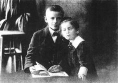 Oskar Schindler (at age 12) with his sister Elfriede