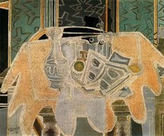 George Braque | Georges Braque - El mantel rosa :: Georges Braque :: Allpaintings Art ...