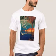 Shop Vin Rouge De Table Wine LabelEurope T-Shirt created by LanternPress. Personalize it with photos & text or purchase as is! French Riviera, Travel Posters, Fitness Models, T Shirt, Casual, Sleeves, Cotton, Mens Tops, How To Wear