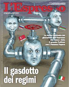 La copertina dell'Espresso in edicola da domenica 16 aprile