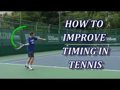 Drills To Improve Timing in Tennis Tennis Doubles, Tennis Serve, Tennis Match, Tennis Lessons, Tennis Tips, Tennis Games, Tennis Clubs, Tennis Techniques, How To Play Tennis