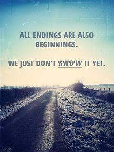 Endings...