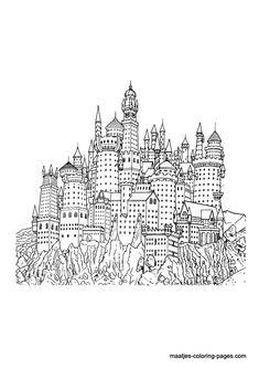 Harry Potter In Poudlard Coloring Page