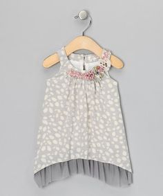 Take a look at this Baby Sara Gray & Cream Dot Swing Dress - Infant on zulily today!