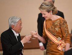 Koningin Mathilde en Keizer Akihito