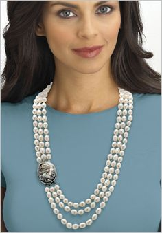 Plus Size Cultured Freshwater Pearl Necklace