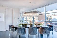 kanye kim kardashian airbnb penthouse triplex marble kitchen balcony