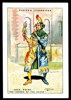 """Player's Cigarettes """"Gilbert & Sullivan"""" (extra large set of 25 issued in 1926).  No24 Jack Point ~ The Yeomen of the Guard"""