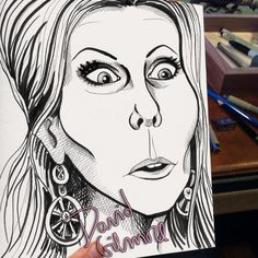 Vicki form Real Housewives of Orange County! Funny Caricatures, Real Housewives, Famous People, Cartoon, Canvas, Orange County, Engineer Cartoon, Tela, Cartoons