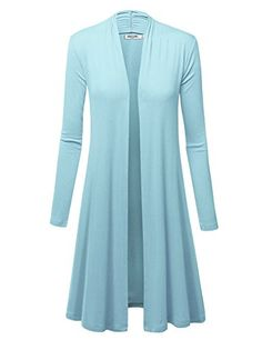 LL Womens Long Sleeve Ombre Open Front Long Cardigan with Stretch Over 60 Fashion, Fashion Line, 50 Fashion, Jackets For Women, Sweaters For Women, Clothes For Women, Dresses To Hide Tummy, Capsule Outfits, Long Cardigan