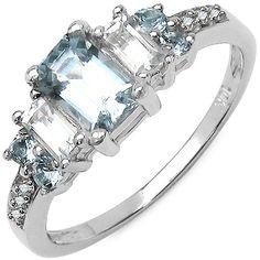 Aquamarines and diamonds