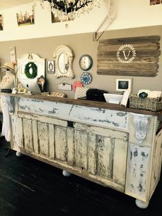 "Sales counter @ ""the Vintage Cottage"" Prineville Or."