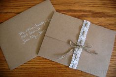 MyNeed2Craft: Wedding Announcements... These were made for our wedding.. Thanks Terri! :)