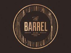 // Graphic Design / logotype #The #Barrel #Circle #Wood #Texture #Logo