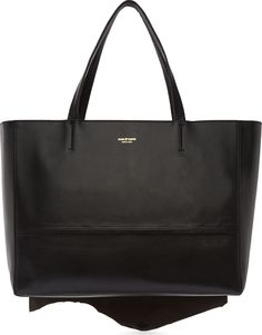 Miharayasuhiro Black Seal Fur  amp  Kip Leather Tote Bag Seal ed2711daabe32