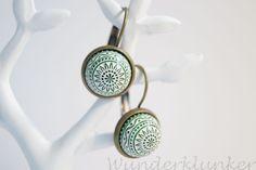 Ohrhänger ❁ Mandala ❁ grün von Wunderklunker auf DaWanda.com