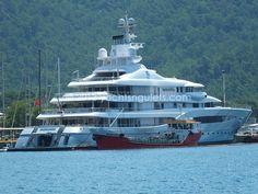 Mega Yacht Mayan Queen in Marmaris harbor / July 2013