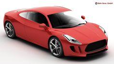 Generic Sports Car 3D Model - 3D Model