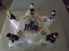 Rebecca's 12th Birthday Cake, she loves One Direction. I had fun making the little characters.