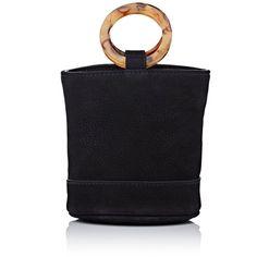 SIMON MILLER Women's Bonsai Bucket Bag (2.790 DKK) ❤ liked on Polyvore featuring bags, handbags, shoulder bags, black, tortoise purse, tortoise shell handbag, tortoise shell purses, tortoise handbag and bucket bags
