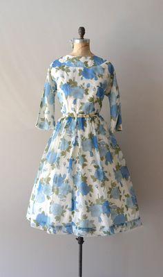 vintage 60s dress    Melodia floral chiffon dress