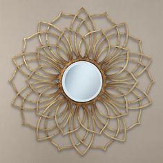 "Uttermost Kahlia 34"" Round Metal Wall Mirror"