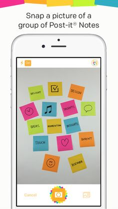 Post it Plus ipad app capture handwritten Post-it notes to make virtual copies to organize, mix and share