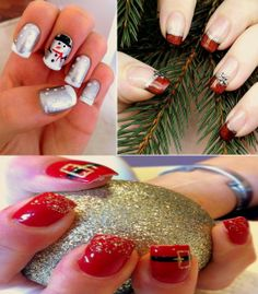 Be creative and try some of these cute easy nail art for Xmas or just because